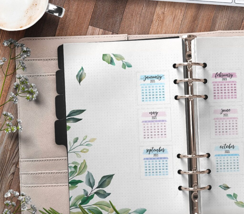 Yearly Planner Insert On Two Pages Free Printable 1
