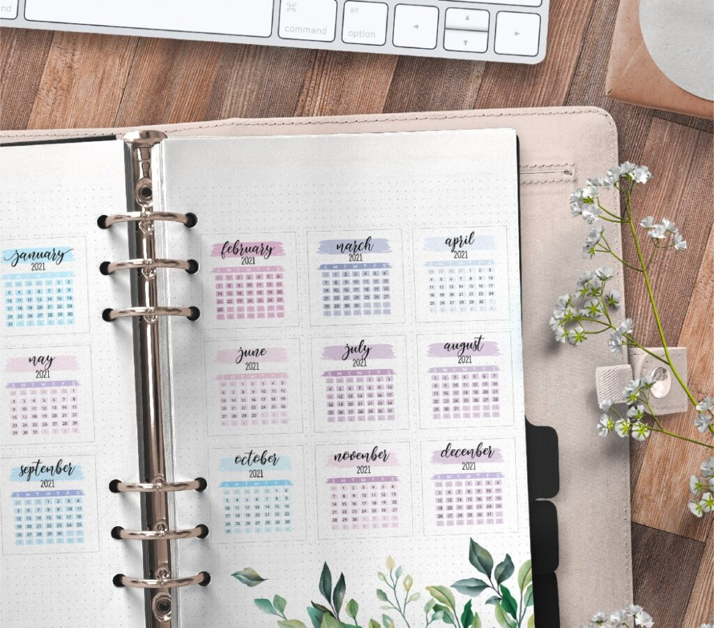 Yearly Planner Insert On Two Pages Free Printable 2