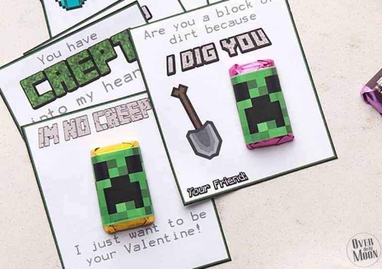 Minecraft Valentine's Handouts printable
