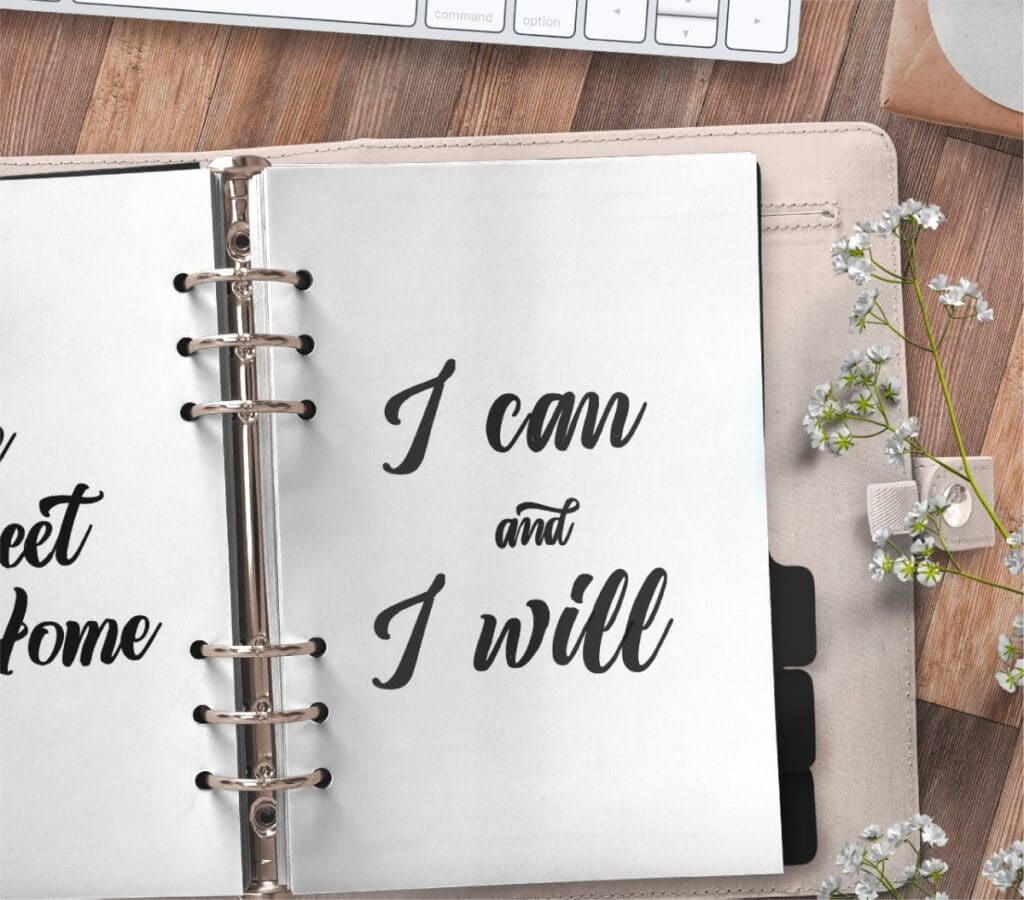 inspirational quote planner page - I can and I will