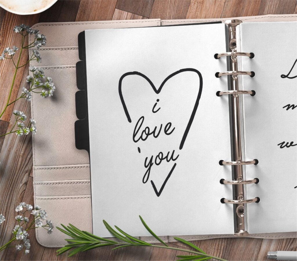 inspirational quote planner page - I love you