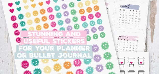 stunning and useful stickers for your planner or bullet journal