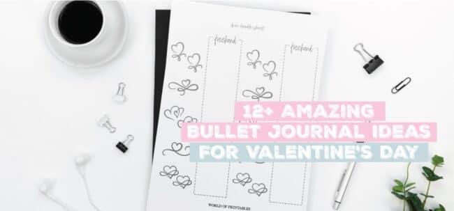 valentines bullet journal ideas