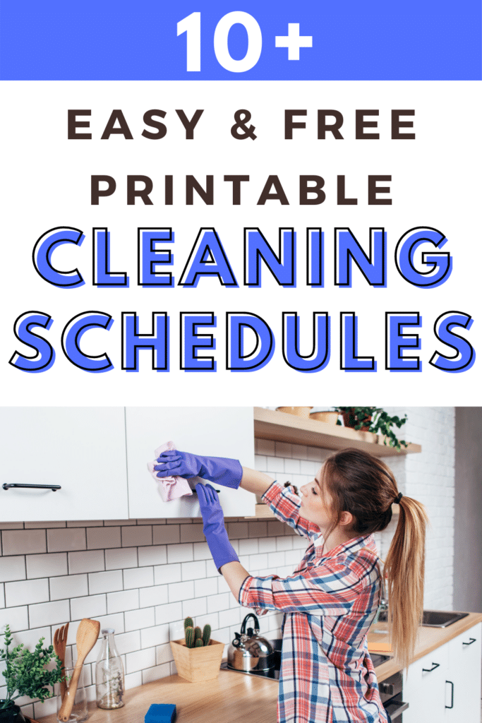 10+ Easy and Free Printable Cleaning Schedules