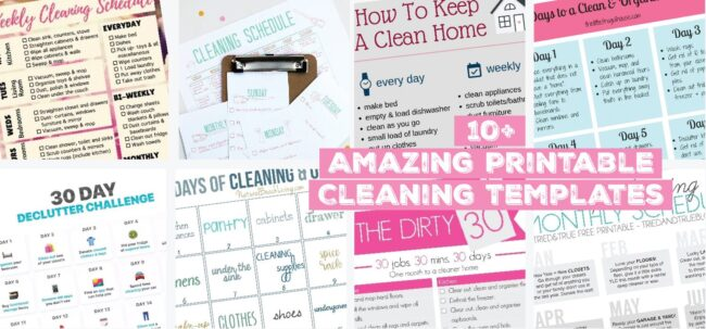 10 amazing printable cleaning templates