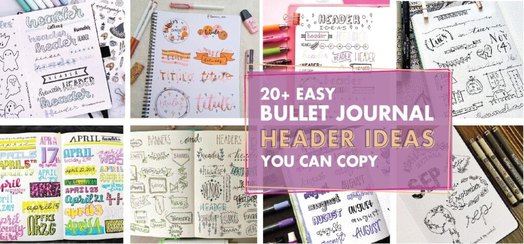 20 easy bullet journal header ideas