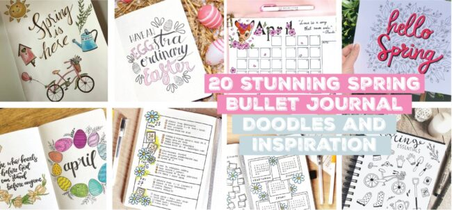 20 stunning spring bullet journal Ideas doodles and inspiration