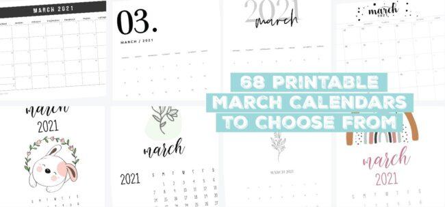 68 printable march calendars
