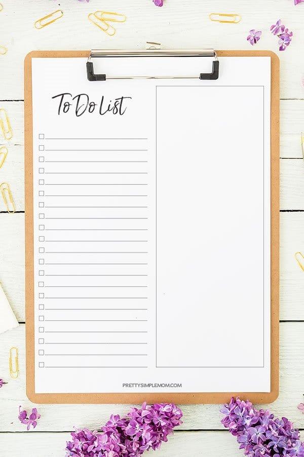 Basic To Do List Printable Template
