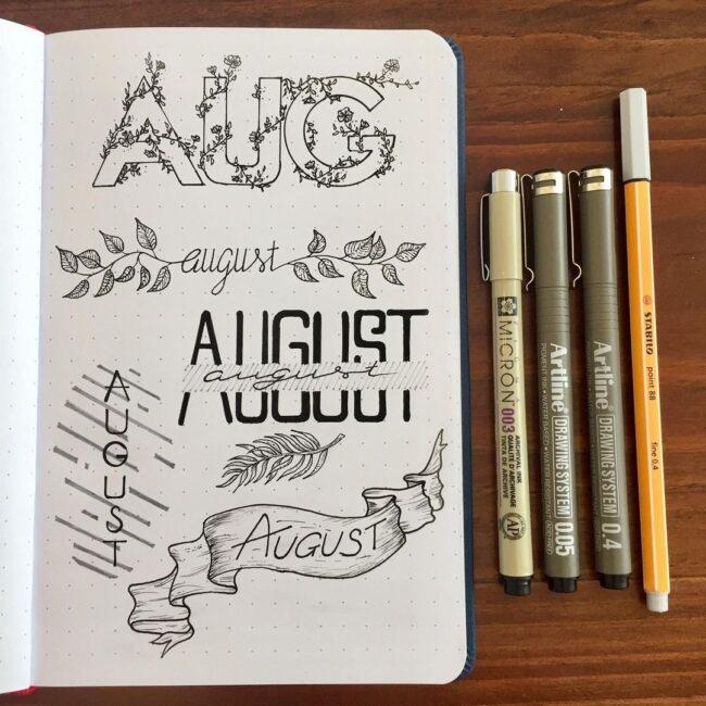Beautiful August Header Ideas