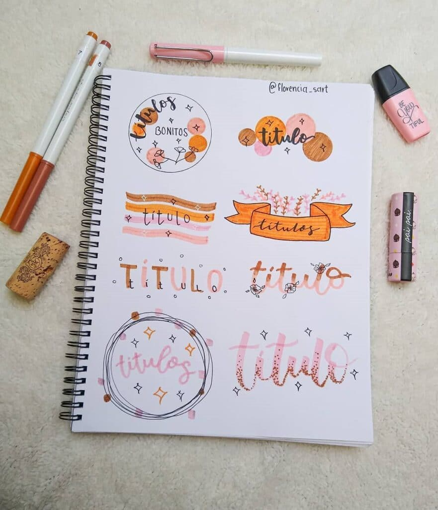 Beautiful Bullet Journal Title Ideas