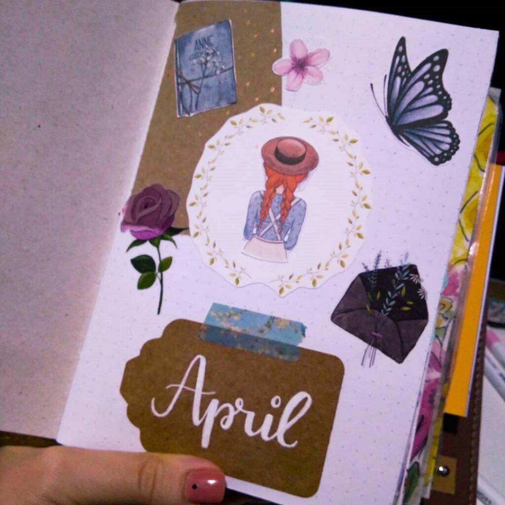 Beautiful Scrapbook April Bullet Journal Cover