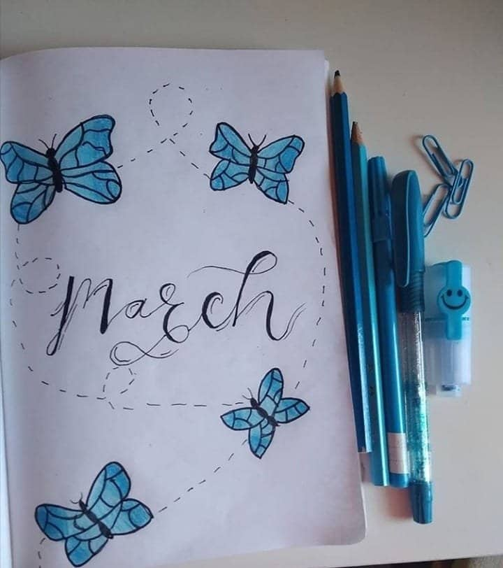 Butterfly March Bullet Journal Cover