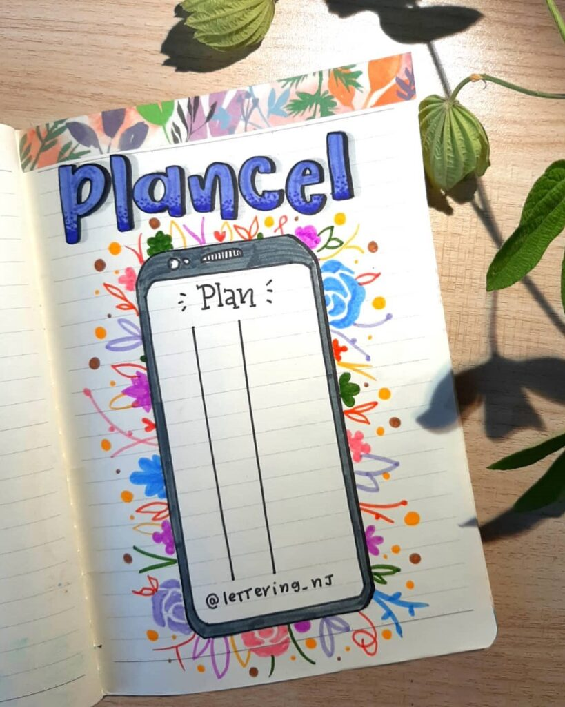 Cell Phone Planner Bullet Journal Page