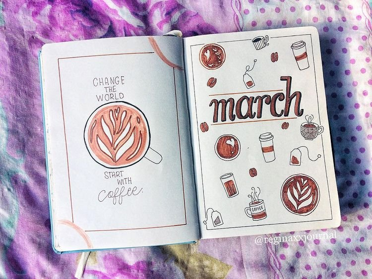 Coffee March Bullet Journal Cover