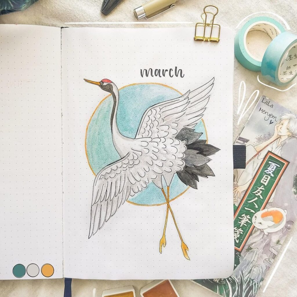 bullet journal monthly cover ideas for march