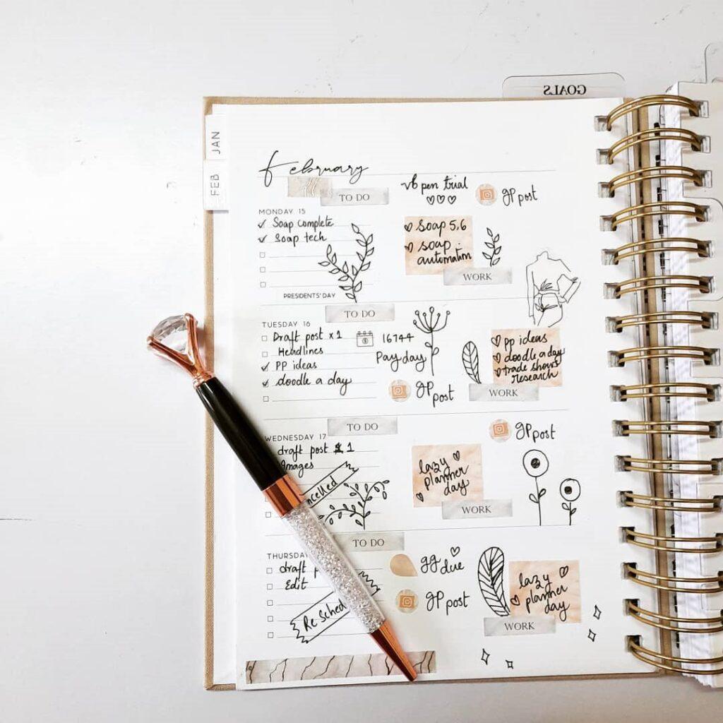 Cute Simple Bullet Journal Page