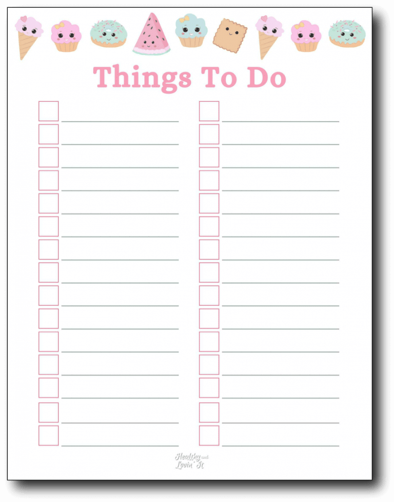 Cute To Do List Things to do