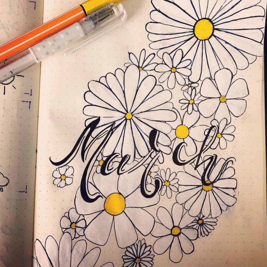Daisy March Bullet Journal Idea