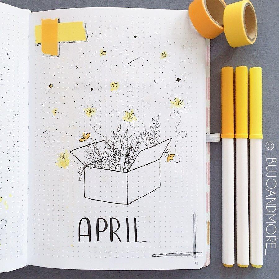 Fireflies April Bullet Journal Cover