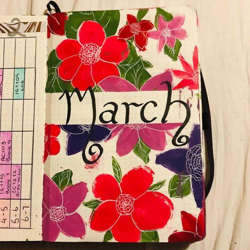 ideas for march bujo