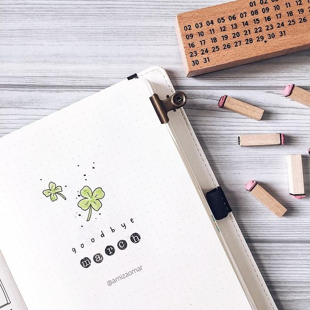 march cover page inspiration for bujo