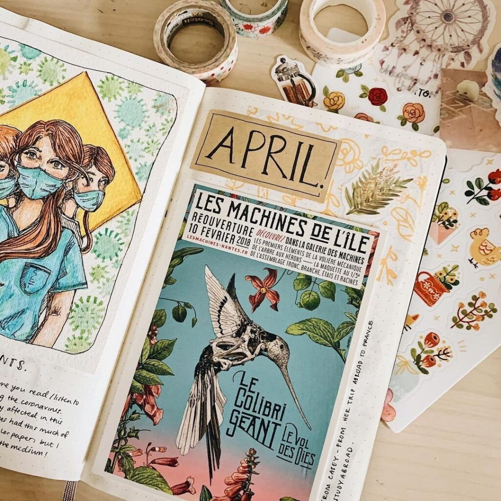 French Poster April Bullet Journal Cover