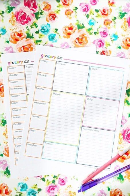 Grocery List Printable