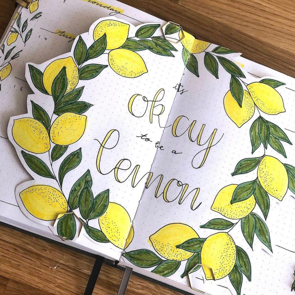 Lemon Dutch Door April Bullet Journal Idea