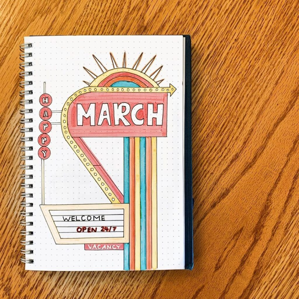 Motel March Bullet Journal Cover