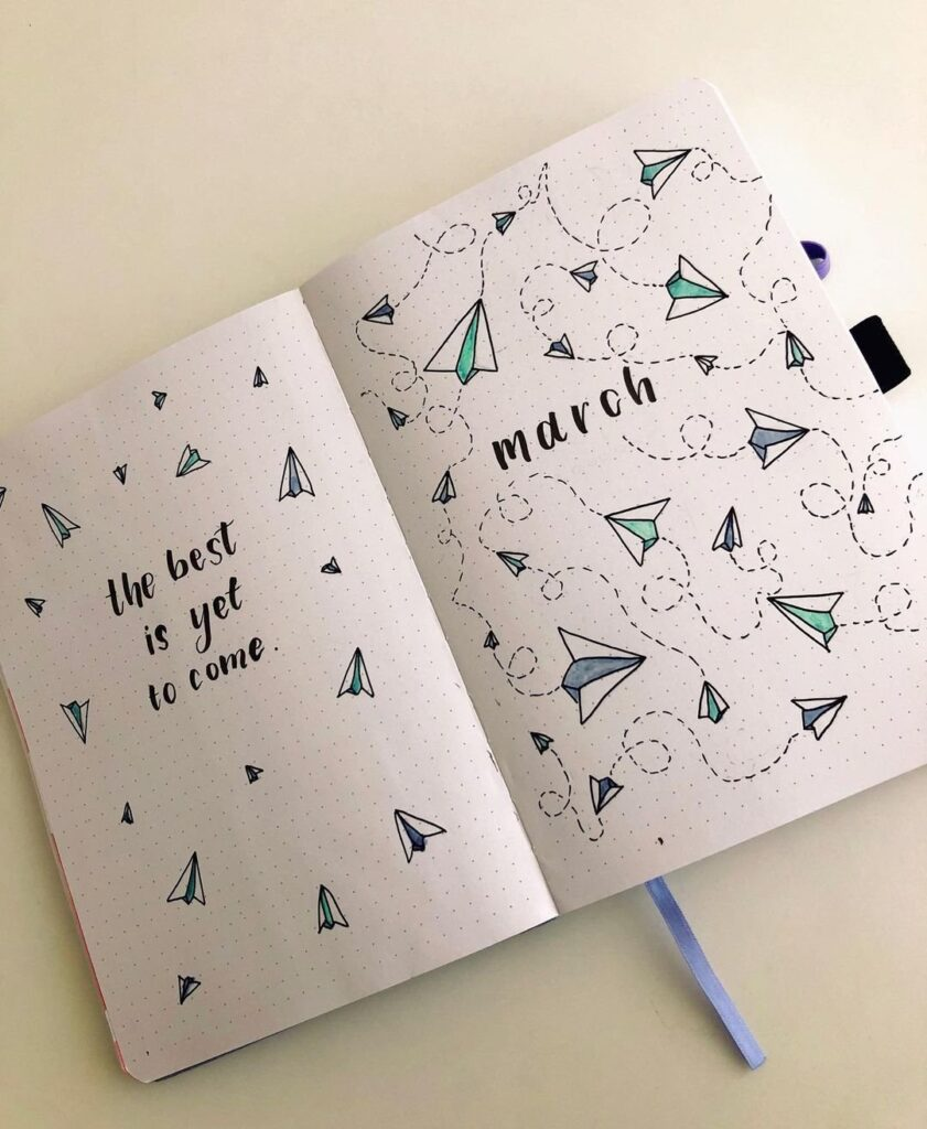ideas for simple march bujo cover