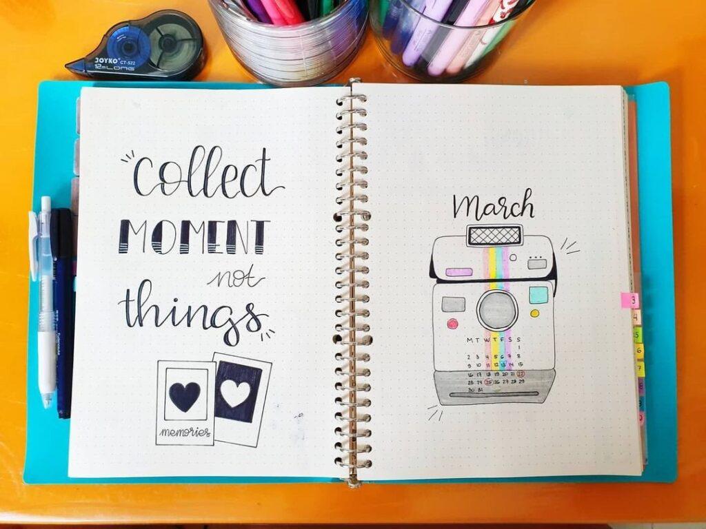 Polaroid March Spread Idea