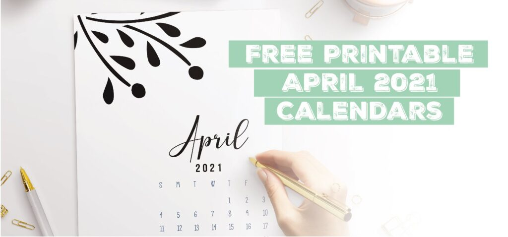 Printable April 2021 Calendar Template