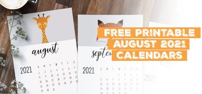 Printable August 2021 Calendar Template