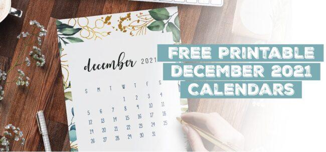 Printable December 2021 Calendar Template