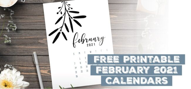 Printable February 2021 Calendar Template