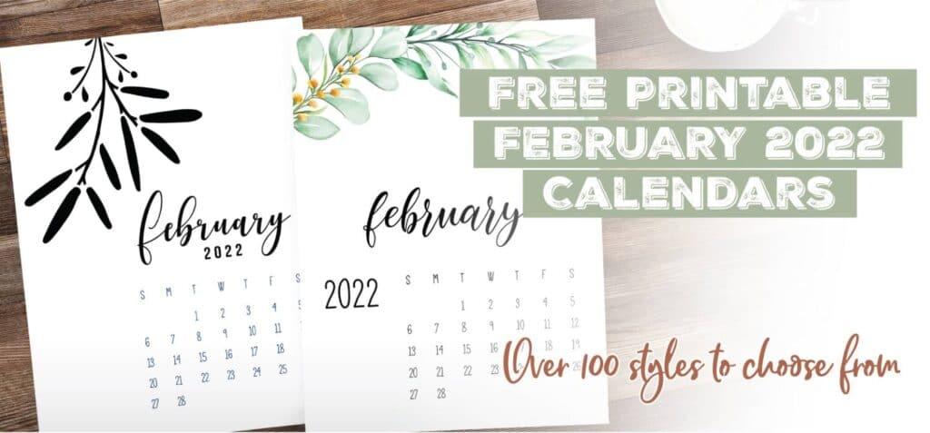 Printable February 2022 Calendar Template