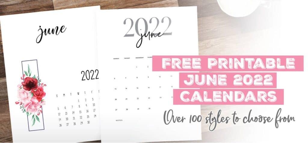 Printable June 2022 Calendar Template