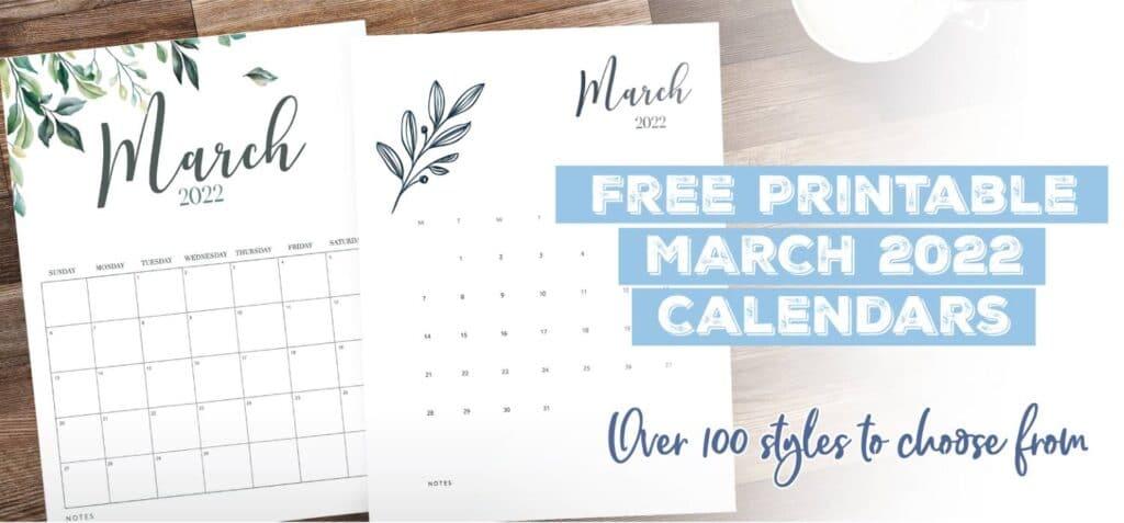 Printable March 2022 Calendar Template