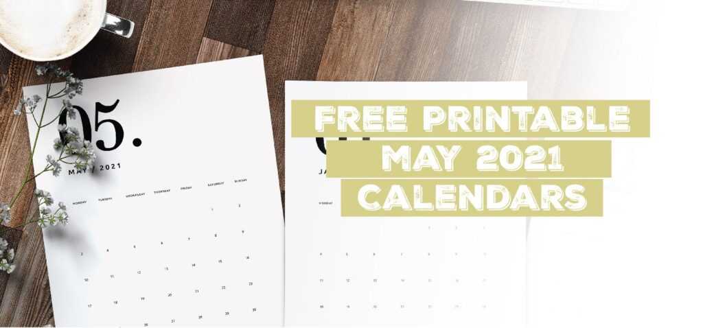 Printable May 2021 Calendar Template