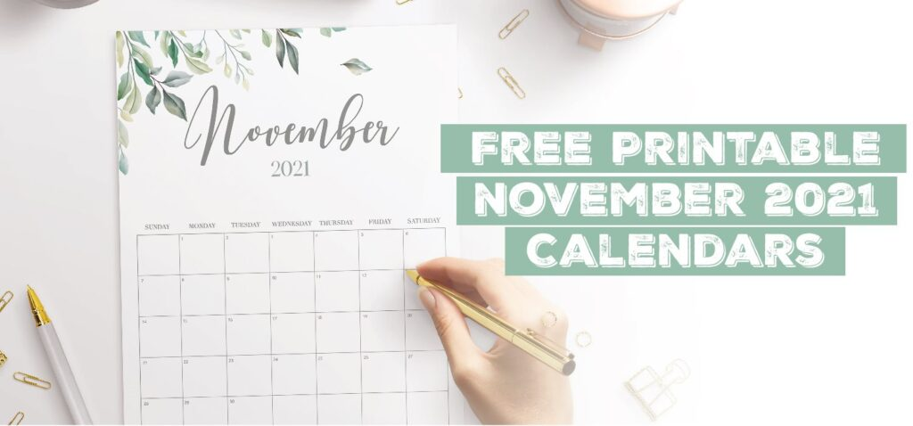 Printable November 2021 Calendar Template