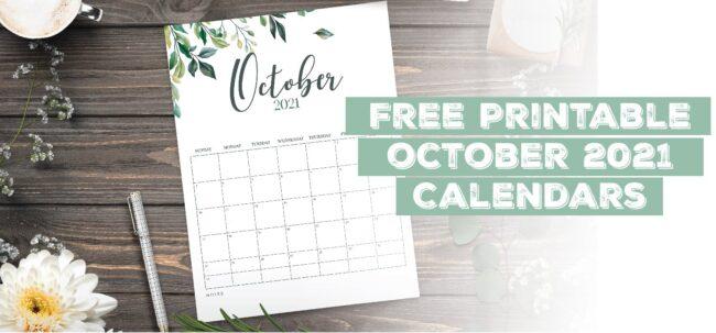 Printable October 2021 Calendar Template