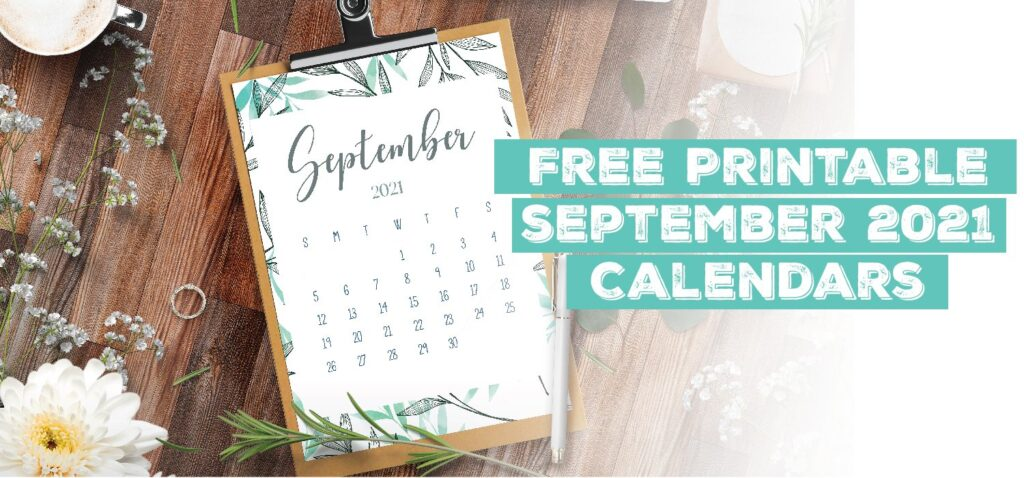 Printable September 2021 Calendar Template