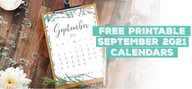 Printable September 2021 Calendar Template