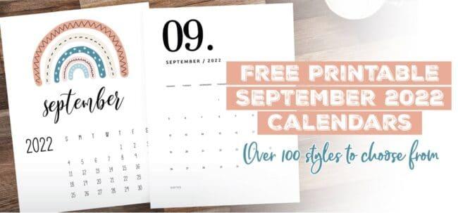 Printable September 2022 Calendar Template