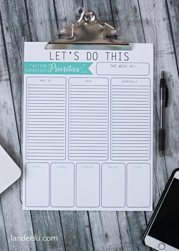 Priorities To Do List Printable Template