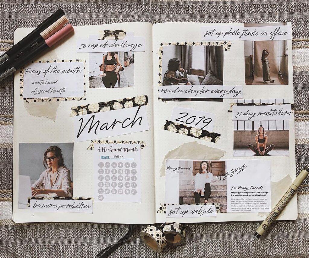 Productive March Bullet Journal Layout Idea