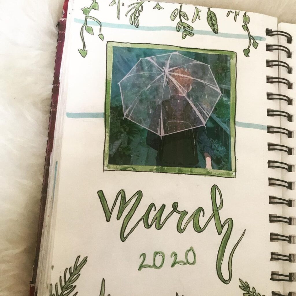 Rainy March Bullet Journal Cover