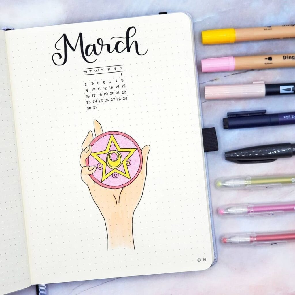 Sailor Moon March Bullet Journal Cover