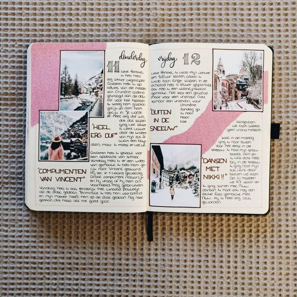 Snowy Bullet Journal Spread
